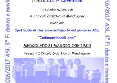 """ASL 3F Spettacolo finale """"Indimenticabili anni"""""""